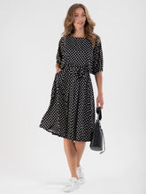 Load image into Gallery viewer, Batwing Spotty Jersey Dress, Black Spot - Jolie Moi Retail
