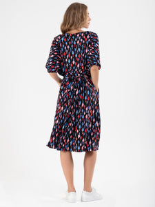 Batwing Spotty Jersey Dress , Multi