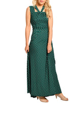 Load image into Gallery viewer, Jolie Moi Cut Out Neckline Maxi Dress, Green Geo