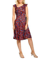 Load image into Gallery viewer, Jolie Moi Neck Detail Midi Dress, Pink Leopard