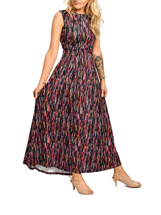 Jolie Moi Short Sleeve Maxi Dress, Multi