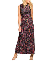 Load image into Gallery viewer, Jolie Moi Short Sleeve Maxi Dress, Multi