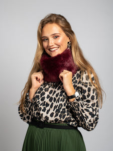 Faux Fur Snood, Wine