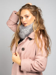 Faux Fur Snood, Grey