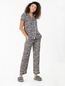 Short Sleeve Pyjamas Set, Neutral Animal
