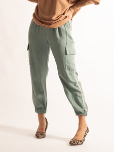 Jogger With Silver Striped Detail, Mint