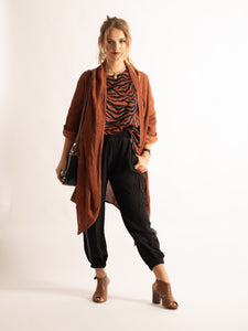 Edge to Edge Cardigan , TAUPE