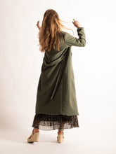 Load image into Gallery viewer, Tie Belt Midi Length Dust Coat, Khaki