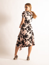 Load image into Gallery viewer, Frill Detail Midi Dress, Pink Floral