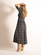 Load image into Gallery viewer, High Neck Print Maxi Dress, Black Heart