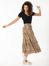 Load image into Gallery viewer, Jolie Moi Sara Animal Print Midi Skirt, Khaki Zebra