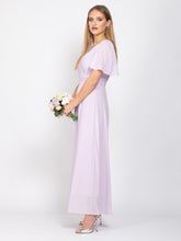 Load image into Gallery viewer, Sample Sale - V-Neck Angel Sleeve Maxi Dress,  Lilac