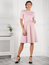 Load image into Gallery viewer, Jolie Moi Fold Over Fit and Flare Midi Dress, Heather
