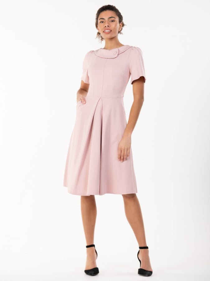 Jolie Moi Bay Peter Tea Dress, Light Pink
