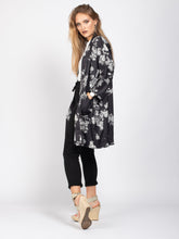 Load image into Gallery viewer, Kimono with Pockets, Black Floral