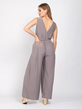 Load image into Gallery viewer, Sleeveless Crossover Jumpsuit, Taupe