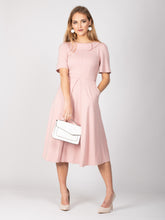 Load image into Gallery viewer, Mother of the Bride Collared Midi Dress, Light Pink