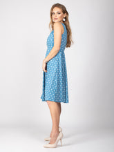 Load image into Gallery viewer, Sample Sale -Sleeveless Polka Midi Dress, Baby Blue Polka