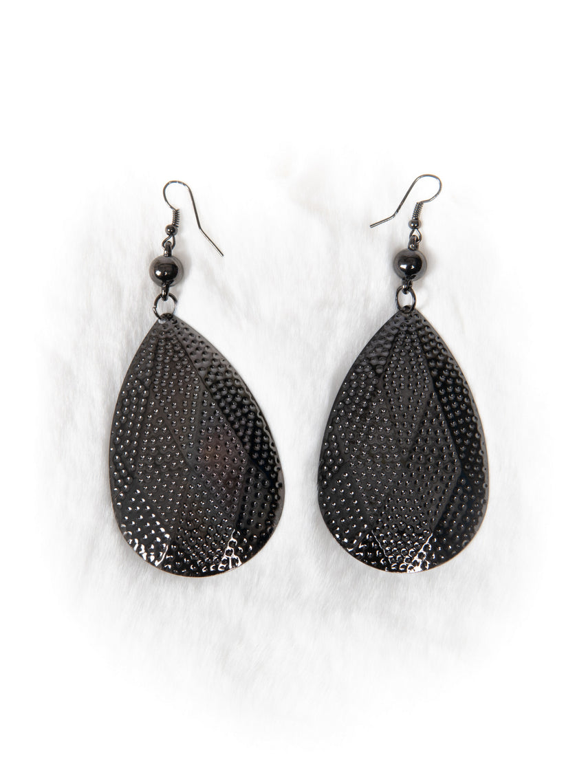 Gunmetal Drop Earrings