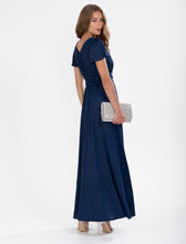 Load image into Gallery viewer, Cap Sleeve Jersey Maxi Dress , Navy