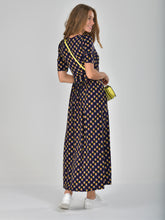 Load image into Gallery viewer, Half Sleeve Wrap Front Maxi Dress, Multi Geo