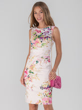 Load image into Gallery viewer, Floral Print Ruched Shift Dress