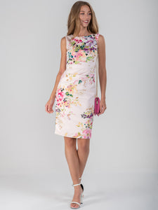 Floral Print Ruched Shift Dress