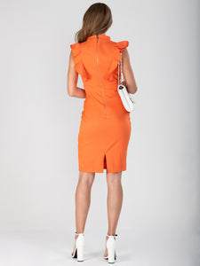 Frill Shoulder Bodycon Dress