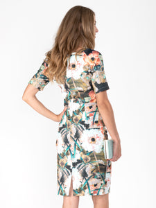 Half Sleeve Printed Shift Dress - Jolie Moi Retail