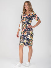 Load image into Gallery viewer, Half Sleeve Printed Shift Dress - Jolie Moi Retail