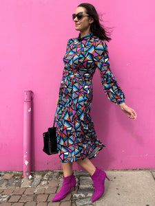 Long Sleeve Jersey Midi Dress