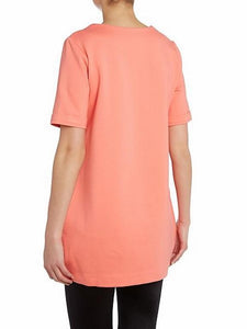 Con structured Short Sleeve Tunic, Coral