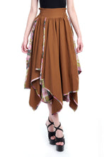 Load image into Gallery viewer, Asymmetric Skirt, Brown