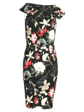 Load image into Gallery viewer, Retro Print Bardot Neck Shift Dress
