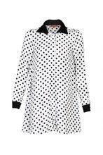 Load image into Gallery viewer, Contrast Collar A-line Long Shirt - Jolie Moi Retail