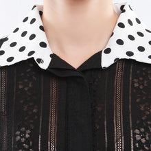 Load image into Gallery viewer, Contrast Collar A-line Long Shirt