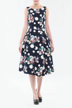 Load image into Gallery viewer, Floral Polka Print Prom Dress