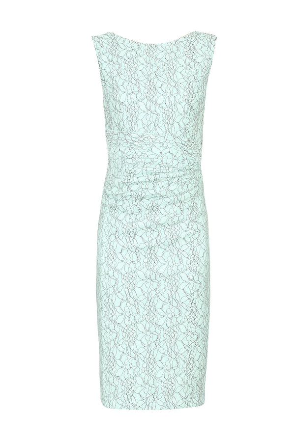 Bonded Lace Ruched Dress