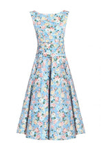 Load image into Gallery viewer, Floral 50s Wrap Belt Dress