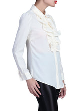 Load image into Gallery viewer, Ruffle Front Shirt, Cream