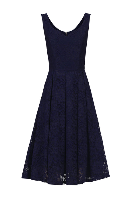 Sweetheart Neck Lace Prom Dress, Navy