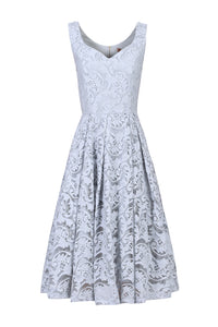 Sweetheart neckline Lace Prom Dress, Grey