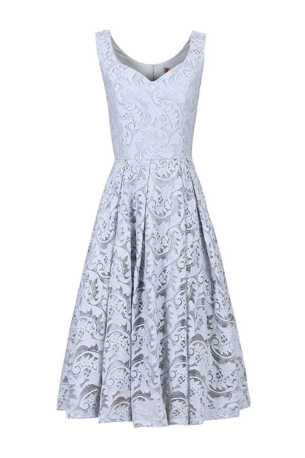 Sweetheart neckline Lace Prom Bridesmaid Dress, Grey-Jolie Moi