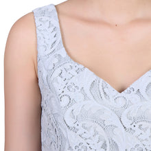Load image into Gallery viewer, Sweetheart neckline Lace Prom Bridesmaid Dress, Grey-Jolie Moi