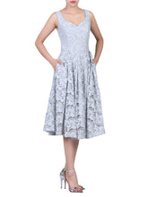Load image into Gallery viewer, Sweetheart neckline Lace Prom Dress, Grey