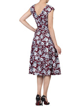Load image into Gallery viewer, Floral Print Fit & Flare Dress