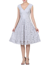 Load image into Gallery viewer, Sweetheart Neck 50's Lace Dress