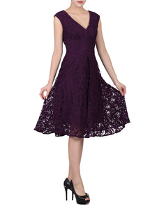 Sweetheart Neck 50's Lace Dress