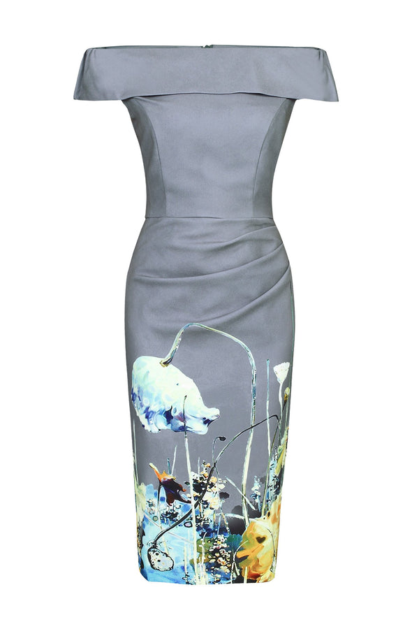 Bardot Neck Bodycon Dress