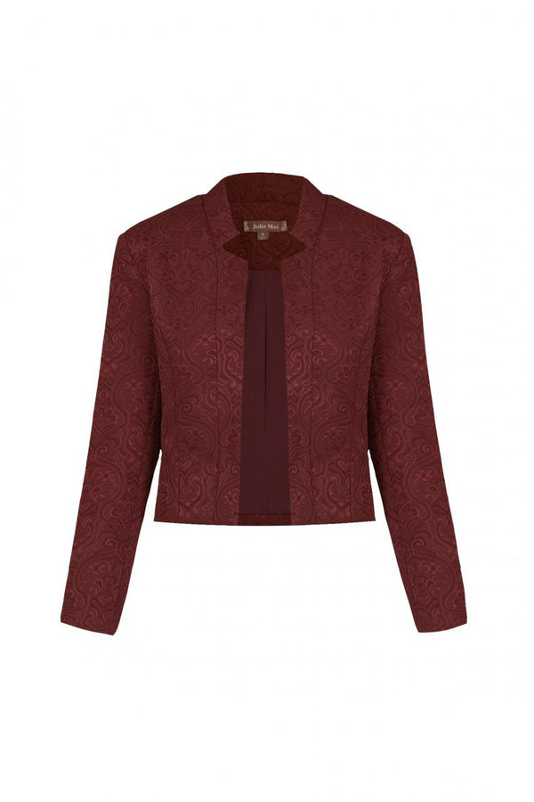 Open Front Jacquard Jacket